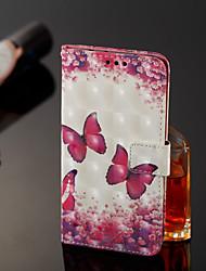 preiswerte -Hülle Für Xiaomi Mi 8 / Mi 6X Geldbeutel / Kreditkartenfächer Ganzkörper-Gehäuse Schmetterling Hart PU-Leder für Xiaomi Redmi Note 5 Pro / Xiaomi Mi Mix 2S / Xiaomi Mi 8