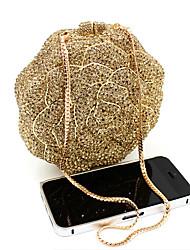 baratos -Mulheres Bolsas Liga Bolsa de Festa Detalhes em Cristal / Vazados Dourado