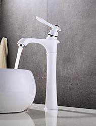 Недорогие -Ванная раковина кран - Широко распространенный / Новый дизайн Живопись Настольная установка Одной ручкой одно отверстие