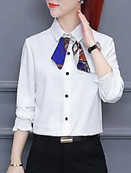 cheap -women's work shirt - color block shirt collar