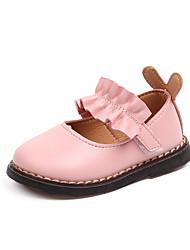 economico -Da ragazza Scarpe PU (Poliuretano) Autunno inverno Scarpe da cerimonia per bambine Ballerine Footing Fibbia per Bambino Bianco / Beige / Rosa
