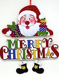 Недорогие -Рождественские украшения Праздник / Мультяшная тематика деревянный Квадратный Оригинальные Рождественские украшения