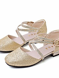 cheap -Girls' Shoes Synthetics Spring &  Fall Comfort / Flower Girl Shoes Flats for Gold / Silver / Pink