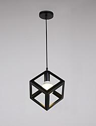 abordables -loft vintage en métal noir mini pendentif lumières salon salle à manger couloir café bars luminaire peint finition