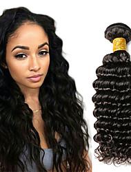 Недорогие -1 комплект Индийские волосы Крупные кудри Натуральные волосы Человека ткет Волосы 10-20 дюймовый Ткет человеческих волос Расширения человеческих волос