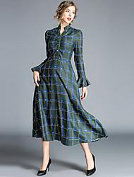 preiswerte -Damen Street Schick Swing Kleid - Druck, Geometrisch Maxi