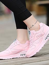 abordables -Mujer Zapatillas de deporte Paseo / Running / Correr Ligero, A prueba de polvo, Resistencia al desgaste Cuero sintético Fucsia / Azul / Rosa