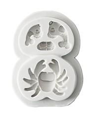 baratos -Ferramentas bakeware Borracha Silicone / Silicone / Gel De Silicone 3D / Faça Você Mesmo Bolo / Biscoito / Chocolate Animal Moldes de bolos 1pç