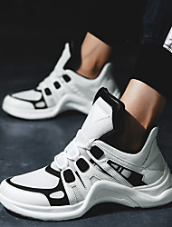 cheap -Unisex Running Shoes / Sneakers Rubber Walking / Running / Jogging Wearable, Breathable, Stretchy Mesh White / Black / Orange+White