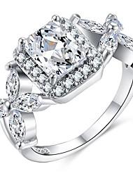 cheap -Women's Stylish Statement Ring Ring - Copper, Platinum Plated, Imitation Diamond Creative Stylish, Oversized 6 / 7 / 8 / 9 / 10 Silver For Wedding Party