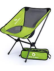 cheap -BEAR SYMBOL Camping Folding Chair Outdoor Lightweight, Rain-Proof, Anti-Slip Oxford Cloth, 7075 Aluminium, Nylon for Fishing / Hiking / Camping - 1 person Green / Gray