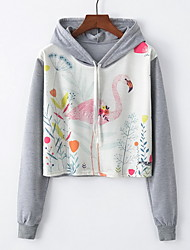 cheap -Women's Basic Hoodie - Solid Colored / Floral, Print