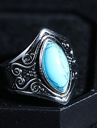 cheap -Women's Turquoise Vintage Style / Solitaire Statement Ring / Ring - Creative Vintage, Punk, Hyperbole 6 / 7 / 8 Light Blue For Professional / Festival