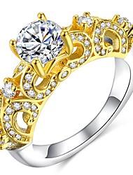abordables -Femme Classique / Sculpture Bague - Dorage 18K, Imitation Diamant Précieux Classique, Elégant, British 6 / 7 / 8 Or Pour Mariage / Soirée