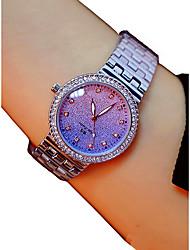 baratos -Mulheres Relógio de Pulso Cronógrafo / Adorável / imitação de diamante Lega Banda Rígida / Elegante Prata / Dourada / Ouro Rose