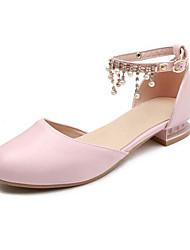 9aa3572209 Lány Cipő Műbőr Nyár Virágoslány cipők Magassarkúak Gyöngy mert Gyerekek /  Tinédzser Fehér / Kék / Rózsaszín