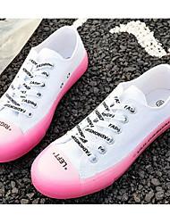 preiswerte -Damen Komfort Schuhe Leinwand Frühling & Herbst Preppy Sneakers Flacher Absatz Runde Zehe Grün / Blau / Rosa