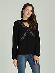 cheap -Suzanne Betro Women's T-shirt - Solid Colored Cut Out / Lace Trims
