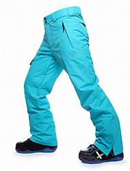 abordables -Hombre Pantalones de Esquí Resistente al Viento, Impermeable, Templado Esquí / Snowboard / Deportes de Invierno Algodón, POLY Pantalones térmicos Ropa de Esquí