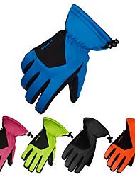 Недорогие -Зимние / Лыжные перчатки Полный палец Водонепроницаемость / Сохраняет тепло / Нескользящий Кожа PU Катание на лыжах / Пешеходный туризм Осень / Зима