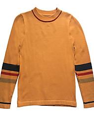 billige -Kvinders langærmet pullover - stribet besætningshals