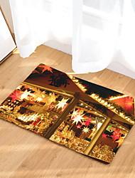 Недорогие -рождественские коврики рождественские фланелевые, прямоугольные ковры высшего качества / без скольжения