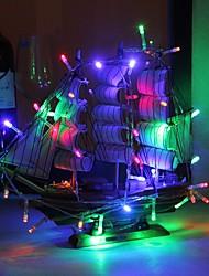 Недорогие -3 м 30 светодиодов гирлянды белый теплый белый фиолетовый розовый красный синий многоцветный зеленый желтый вечеринка декоративные прекрасный 3 а.