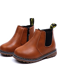 cheap -Girls' Shoes PU(Polyurethane) Fall & Winter Comfort / Fashion Boots Boots Walking Shoes Flower for Kids Black / Brown / Burgundy / Booties / Ankle Boots