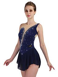 baratos -Vestidos para Patinação Artística Mulheres / Para Meninas Patinação no Gelo Vestidos Azul Marinho / Vermelho Rosa / Azul Elasticidade Alta Concorrência Roupa para Patinação Design Anatômico