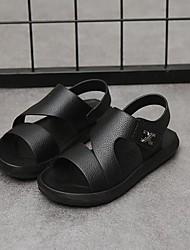 levne -Chlapecké Boty PU Léto Pohodlné Sandály Kouzelná páska pro Děti / Teenager Bílá / Černá