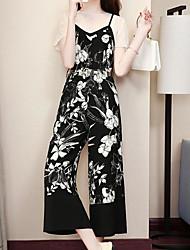 cheap -Women's Set - Floral / Color Block Pant