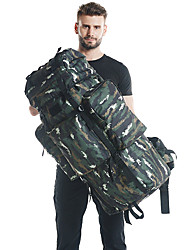 Недорогие -100 L Рюкзаки / Заплечный рюкзак - Дожденепроницаемый, Пригодно для носки, Воздухопроницаемость На открытом воздухе Пешеходный туризм, Походы, Армия Нейлон Зеленый, Зеленый / черный, Хаки