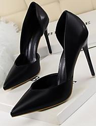 Női Kényelmes cipők PU Tavasz   Ősz Magassarkúak Tűsarok Fekete   Sárga    Piros 4068db6400