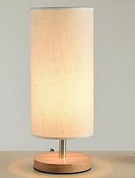 abordables -Moderne / Contemporain Lampe de Table Pour Chambre à coucher Bois / Bambou 220-240V Blanc / Jaune