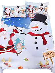 Недорогие -рождественские наборы для одеяла рождественские наборы мультфильм полистер напечатаны 3 шт.