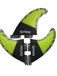 billige -Srfda Surf-finner Glasfiber Hurtig Frigivelse - SUP-surfbræt / Longboards / Surfbrætter 3 pcs