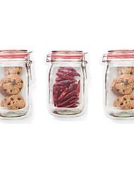 baratos -Organização de cozinha Armazenamento de alimentos Plástico Adorável / Criativo 1pç