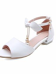 Недорогие -Девочки Обувь Искусственная кожа Лето Удобная обувь / Детская праздничная обувь Сандалии для Белый / Синий / Розовый