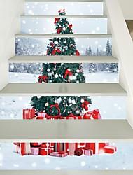 Недорогие -Декоративные наклейки на стены - 3D наклейки Рождество / Цветочные мотивы / ботанический Гостиная / Детская