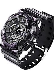 Недорогие -SANDA Муж. Спортивные часы электронные часы Японский Цифровой 30 m Защита от влаги Календарь Хронометр Plastic Группа Аналого-цифровые Роскошь Мода Черный / Красный / Зеленый - Лиловый Красный Зеленый