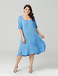 cheap -Sweet Curve Women's Going out Slim A Line Dress / Summer