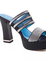 povoljno -Žene Cipele Traper Ljeto Udobne cipele Sandale Stiletto potpetica Zlato / Crn / Plava
