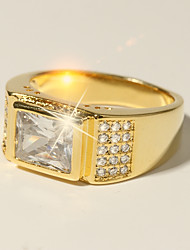 cheap -Men's Classic Stylish Ring - Imitation Diamond Believe Classic, Holiday, Fashion 7 / 8 / 9 / 10 / 11 Gold For Formal Date