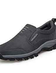 Недорогие -Муж. Комфортная обувь Замша / Полиуретан Осень На каждый день Мокасины и Свитер Амортизирующий Черный / Темно-синий / Серый