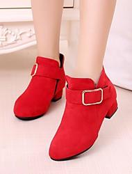 Недорогие -Девочки Обувь Замша Весна & осень Ботильоны / Детская праздничная обувь Ботинки для Черный / Красный / Розовый