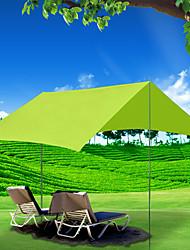Недорогие -4 человека на открытом воздухе Семейный кемпинг-палатка С защитой от ветра Дожденепроницаемый Устойчивость к УФ Карниза Однокомнатная Однослойный 1500-2000 mm Палатка для