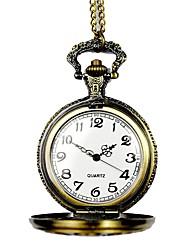 Недорогие -Муж. Карманные часы Кварцевый С гравировкой сплав Группа Аналоговый Винтаж Скелет Бронза - Бронзовый