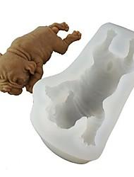 Недорогие -Инструменты для выпечки Силиконовый гель Cool 3D Повседневное использование Торты Для мороженого Животный принт Формы для пирожных 1шт