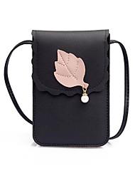 Недорогие -Жен. Мешки PU Мобильный телефон сумка Пуговицы Розовый / Коричневый / Светло-серый