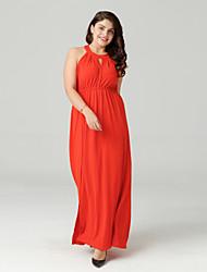 cheap -TS - Sweet Curve Women's Basic Boho Chiffon Dress - Solid Colored